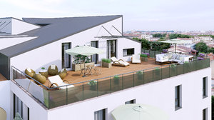 euro terrace 3D