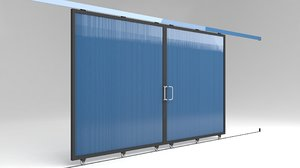 3D factory sliding door warehouses model