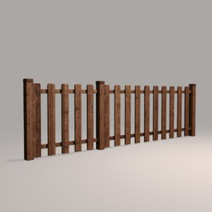 3D wood fence 10