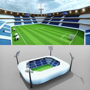 football soccer stadium - 3D model