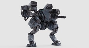 3D model mech army 02