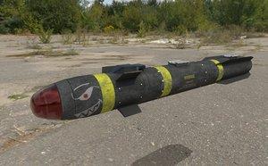 hellfire missile agms 3D model