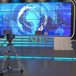 3D model tv studio camera