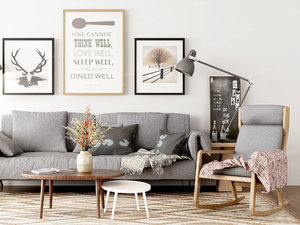 3D furnishings sofa model