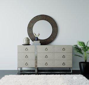 3D bernhardt furniture dresser mirror