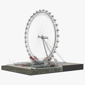 3D london eye millennium wheel model