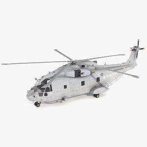 merlin aw101 helicopter 3D model