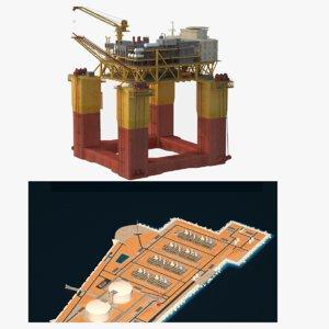 lng rig 3D model