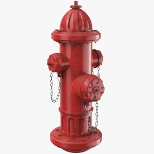 3D model real hydrant