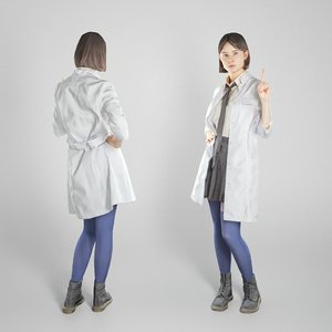 young woman school pose model