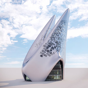 futuristic building 15 3D