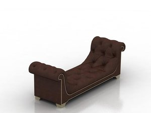 3D chaise longue sofa living room