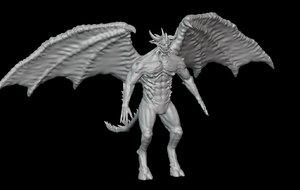 3D demon diablo model