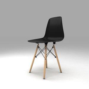 shell chair dsw herman miller 3D model
