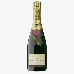 realistic moet chandon bottle 3D