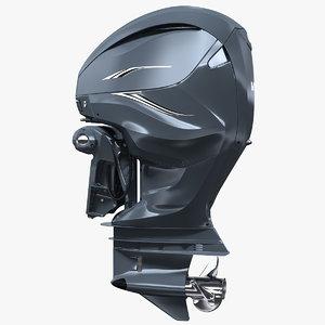 3D v8 outboard boat motor