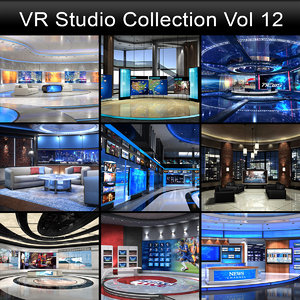 3D virtual studios model
