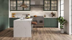 3D rustic kitchen model