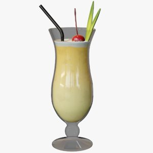 pina colada cocktail 3D