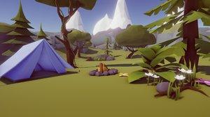 pack nature trees 3D model
