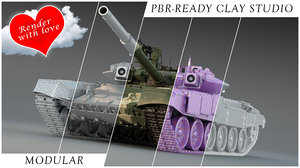 3D model studio pbr ready