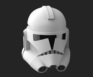 clone trooper helmet - model