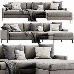 3D interface nana chaise lounge