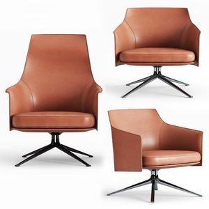 3D poliform stanford lounge chair