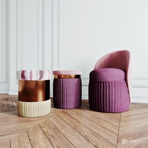 koket chair pouf 3D model