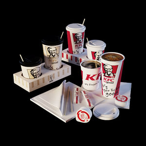 kfc cofe cup 3D model