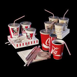 3D kfc coca cola model