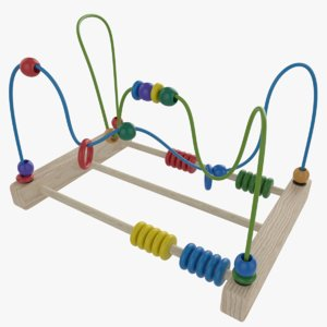 bead abacus wire maze model