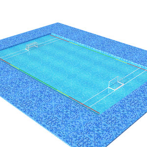 3D polo pool water
