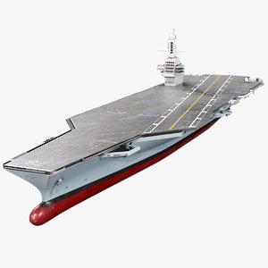 3D model uss gerald r cvn-78
