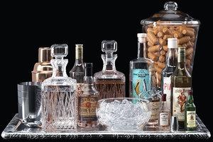 3D model whiskey cocktail