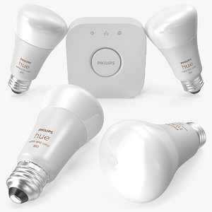 philips hue white color 3D model