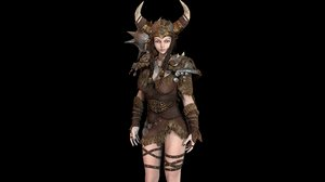 barbarian girl model