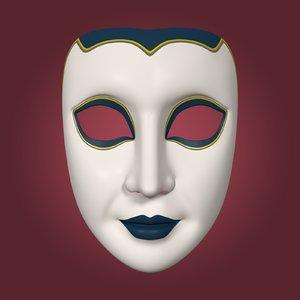 mardi gras woman mask model