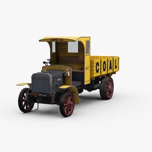 3D vintage lgoc lorry 3t