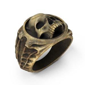 3D skull ring