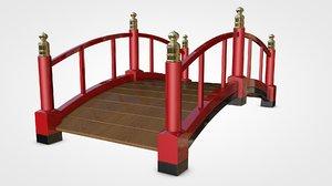 3D model garden bridge