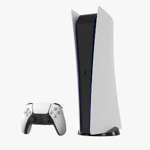 3D model playstation 5 disc drive