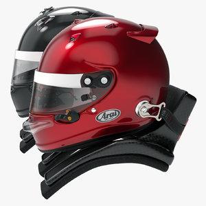 3D racing helmet style arai