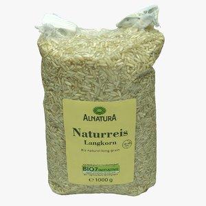 pack rice 3D model