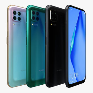 huawei p40 lite color 3D model