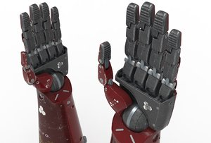 3D robot android mechanical hand arm