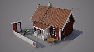 3D swedish cabin