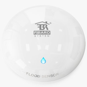 fibaro flood sensor 3D
