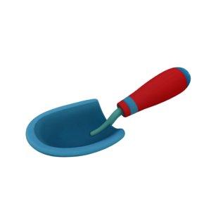 3D garden shovel model