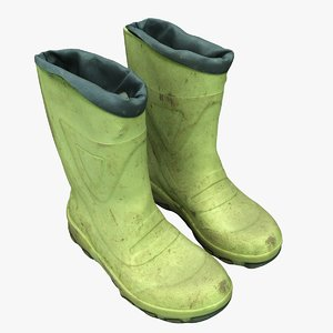dirty rubber boots 3D model